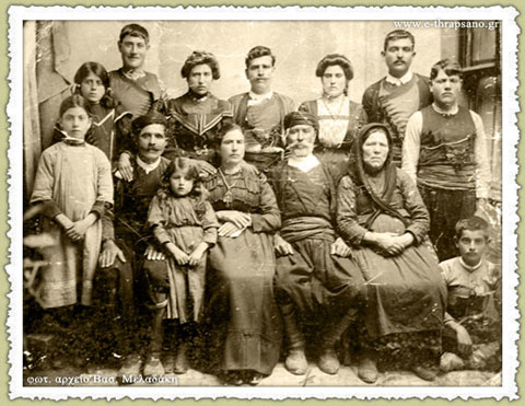 A typical family of Thrapsano in 1900
